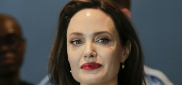 Angelina Jolie gave a keynote address about women's rights at the UN