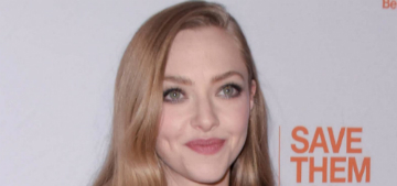 Amanda Seyfried, Justin Theroux & Emmy Rossum pose with puppies for a good cause