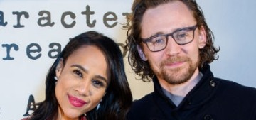 Tom Hiddleston looked super-friendly with his 'Betrayal' costar Zawe Ashton