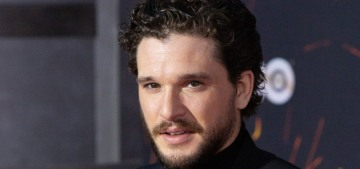 Kit Harington cannot wink to save his life & he's hosting SNL this weekend