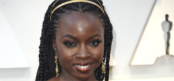 Danai Gurira walks her dog while carrying a sword, which scares people