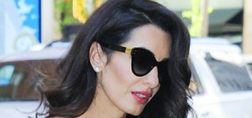 Amal Clooney in a crisp Zac Posen suit in New York: stunning or unflattering?