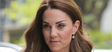 Duchess Kate wore green Emilia Wickstead to open the Kantor Centre in London