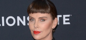 Charlize Theron got itty-bitty bangs trauma for the NYC 'Long Shot' premiere