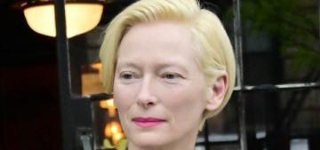 Tilda Swinton, 58, steps out in New York with her longtime love Sandro Kopp