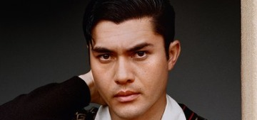 Henry Golding, former hairdresser, still gives his wife blowouts & cuts babies' hair