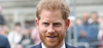 Prince Harry stepped out to briefly talk about the Sussex Boy with reporters