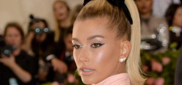 Hailey Baldwin in Alexander Wang at the Met Gala: tacky Barbie realness?