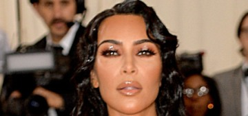 Kim Kardashian in custom Thierry Mugler at the Met Gala: damp camp?