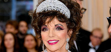 Joan Collins wore Valentino and dressed as Alexis Carrington for the Met Gala