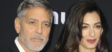 Amal Clooney in Oscar de la Renta at the 'Catch-22′ premiere: cute or budget?