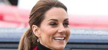 Duchess Kate steps out in Wales in a very buttony Philosophy blazer