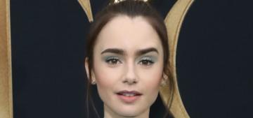 Lily Collins in Ronald Van Der Kemp at the LA 'Tolkien' premiere: cute or blah?