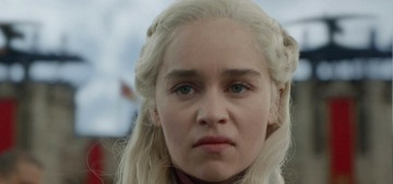 Emilia Clarke insists that she's not to blame for the 'Starbucks cup' in GoT