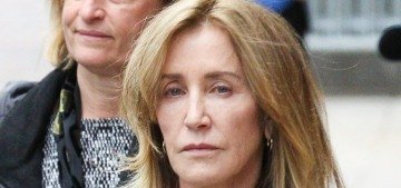 Felicity Huffman wept in federal court as she entered her guilty plea