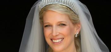Lady Gabriella Windsor wore a custom Luisa Beccaria gown for her Windsor wedding