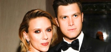 Scarlettt Johannson & Colin Jost are engaged after two years of dating