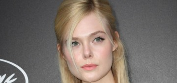 Elle Fanning fainted in Cannes because of her Prada gown & her period
