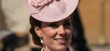 Duchess Kate in pink McQueen at a palace garden party: pretty or strange?
