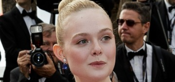 Elle Fanning in Reem Acra bridal for the last night of Cannes: adorable or twee?