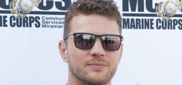 Ryan Phillippe claims he didn't throw his ex-girlfriend down a staircase