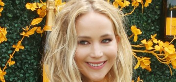 Jennifer Lawrence attends the Veuve Clicquot Polo Classic, is ready to be seen