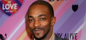 Anthony Mackie wakes up at 5, falls asleep at 9:30 watching Golden Girls: goals?