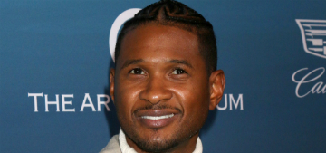 Usher got a very detailed tattoo on the back of his head