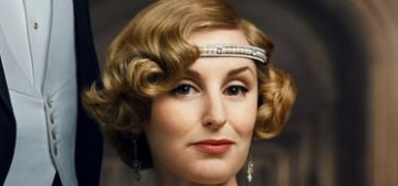 Wow, Lady Edith is killing it in the flapper style on the 'Downton Abbey' posters