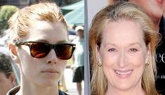 Jessica Biel laments her beauty again, name-drops Meryl Streep