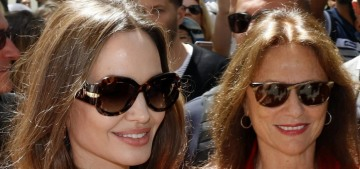 Angelina Jolie stepped out with her godmother Jacqueline Bisset in Paris