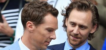 Tom Hiddleston & Benedict Cumberbatch watched the Wimbledon men's final
