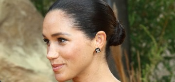 Duchess Meghan made a cryptic comment about the UK press 'not making it easy'