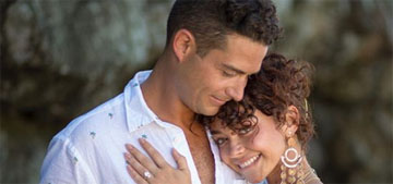 Sarah Hyland got engaged to her boyfriend of two years, Wells Adams
