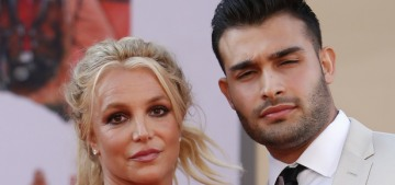 Britney Spears & Sam Asghari attended the 'OUATIH' premiere last night