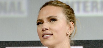 Scarlett Johansson's new engagement ring is a brown diamond with a black band?