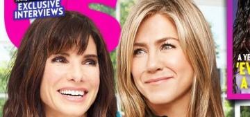 Jennifer Aniston & Sandra Bullock are apparently good friends nowadays