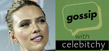 'Gossip with Celebitchy' podcast #23: Scarlett Johansson's ugly engagement ring