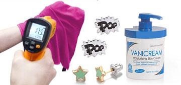 Best-selling versatile cream, cute stud earrings and an instant cooling towel