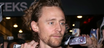 Tom Hiddleston's glorious ginger curls were in full effect post-'Betrayal' preview