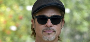 Brad Pitt was careful about the Oscar buzz talk at the Venice Film Festival