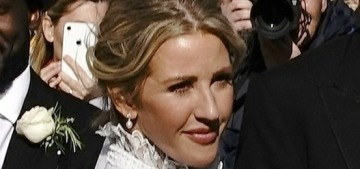 Ellie Goulding wore a custom, Victorian-style Chloe gown for her Yorkshire wedding