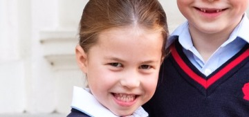 Prince George & Princess Charlotte gave toothy grins before school in a new photo