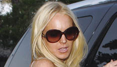 Lindsay Lohan spends 11 hours going blonde, is back with Sam Ronson