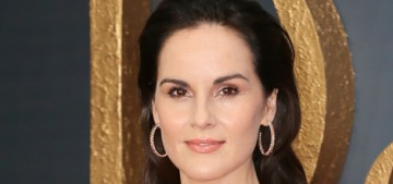 Michelle Dockery in gold Galvan at the 'Downton Abbey' premiere: stunning?