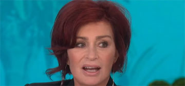 Sharon Osbourne got another facelift and can barely move her mouth