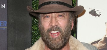Nicolas Cage looks like this now, and honestly, we should be happy for him