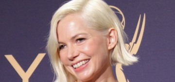 Michelle Williams won in a great, colorful Louis Vuitton at the Emmys