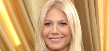 Gwyneth Paltrow in vintage Valentino at the Emmys: uncomfortable or cute?