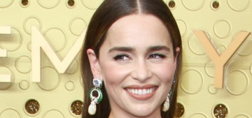 Emilia Clarke in a rich, jewel-tone Valentino at the Emmys: gorgeous or blah?